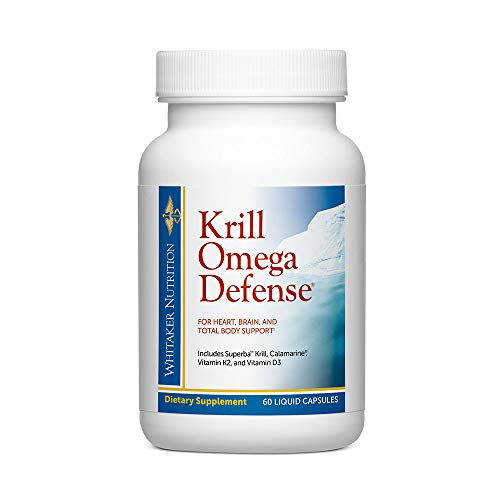 Dr. Whitaker's Krill Omega Defense in Revolutionary Licaps Provides The Most Bioavailable Forms of Omega-3s for Total Body Support, 60 Liquid Capsules (30-Day Supply)