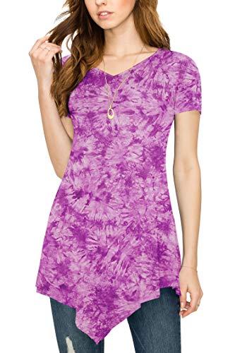 Over Tie-Dye Tunic Top XXL Purple