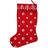 Ragged Rose Santa Christmas Stocking, Red by Ragged Rose