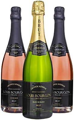 Pack mix Louis Bourgon Grande Réserve Brut |1 Blanc de Blancs e 2 Cuvée Rosé |0,75L