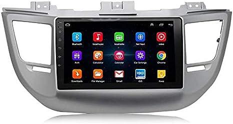 XXRUG Estéreo De Coche Android para Hyundai Tucson 2015-2018 Sistema De Navegación GPS CarPlay Integrado/DSP Soporte Bluetooth/Cámara Trasera/OBD/SWC/GPS/RDS/DVR/Dab