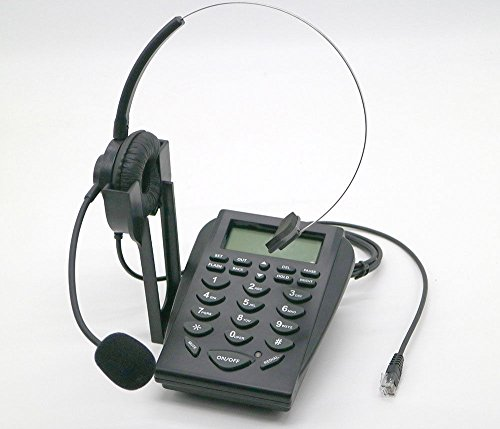 - E05 LCD Office Telephone With Corded Headset Call Center Phone Tone Dial Key Pad