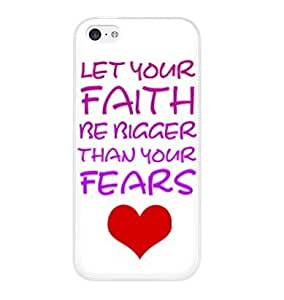 Let your faith be bigger than your fears Quote snap on Case Cover for Apple for iphone 6 plus 5.5