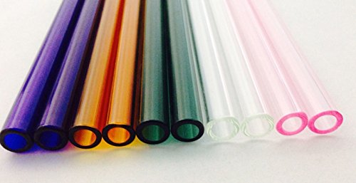 12 mm OD 8m ID Pyrex Glass Blowing Colored Tubing 10 Piec...