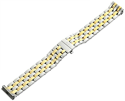 MICHELE MS16CM280009 Urban Mini 16mm Stainless Steel Two Tone Watch Bracelet by MICHELE