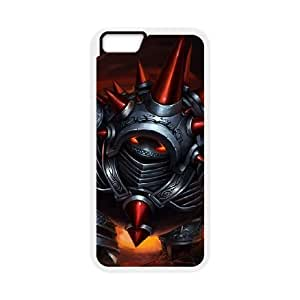 iPhone 6 Plus 5.5 Inch Cell Phone Case White League of Legends Chrome Rammus SH3803166