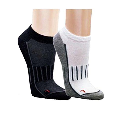 3er Pack Sport- und Funktionssneaker - spezielle Netzstrick-Technik am Fußrücken für ein optimales Fußklima - antibakterielle Sportsocken (39-42, Schwarz/Grau)