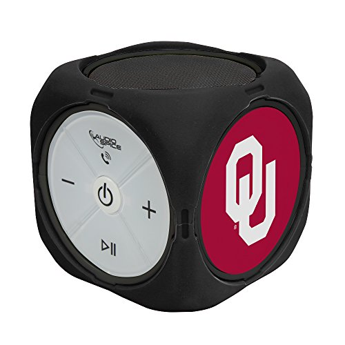 NCAA Oklahoma Sooners MX-300 Cubio Bluetooth Speaker, Black, One Size by AudioSpice