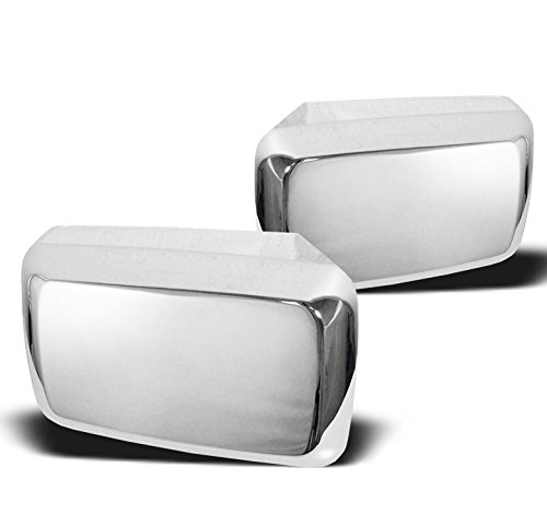 ZMAUTOPARTS Side Door Mirror Covers Trim Moulding Chrome For 2006-2010 Hummer H3 H3T Pickup