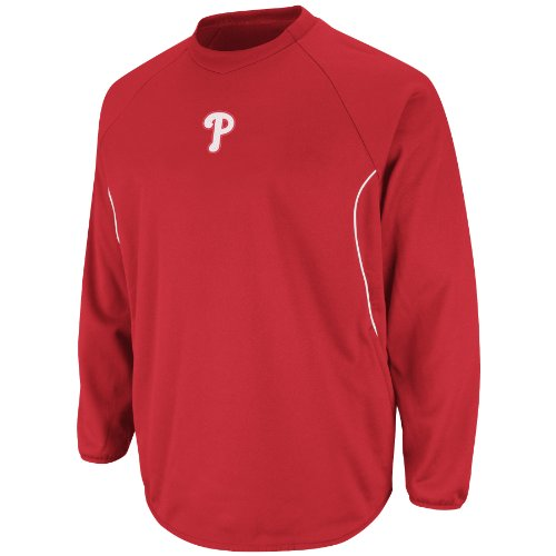 Fleece Therma Base Mlb Tech (MLB Philadelphia Phillies Therma Base Tech Fleece, Large, Red/White)