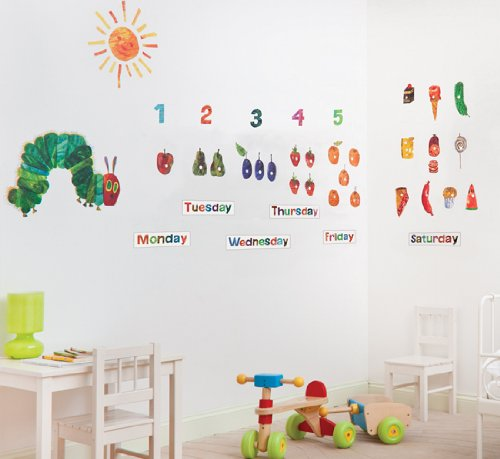 The Very Hungry Caterpillar Nursery And Playroom Wall Sticker Décor Kit:  Amazon.co.uk: Kitchen U0026 Home Part 64