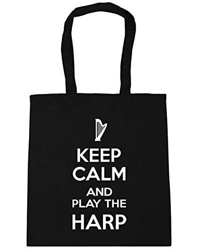 Shopping and litres Calm 42cm Black Bag Gym 10 Keep Beach HippoWarehouse Harp the Play x38cm Tote 0HFWpqw1