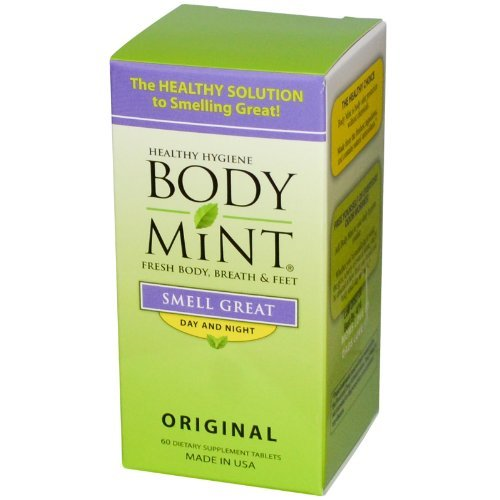 Body Mint Smell Great Day and Night Original 60 Tablets
