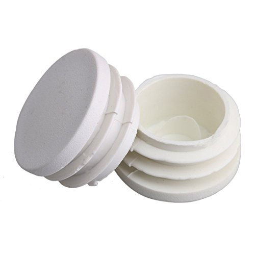 Flyshop 50mm White Plastic Plug Round Tubing End Cap Tube Chair Glide 8 Pack by Flyshop