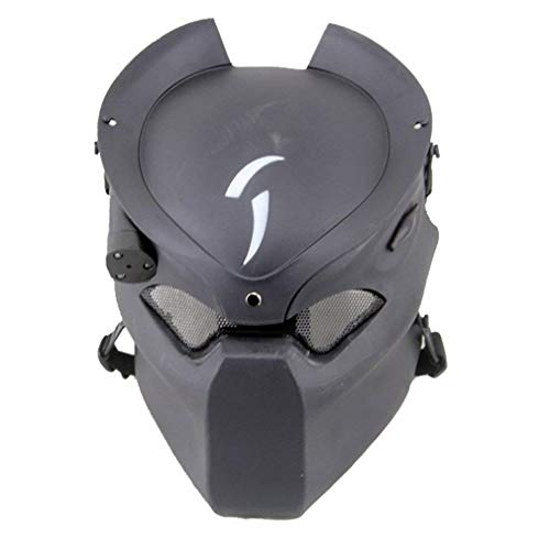 Richermall Outdoor CS Games Costume Mask Ventilate Protective Face Mask with Infrared Lamp for Paintball CS Game BB Gun and Halloween Masquerade Party ()