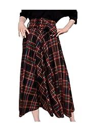 cheelot - Falda con cinturón para Mujer, diseño de escocés