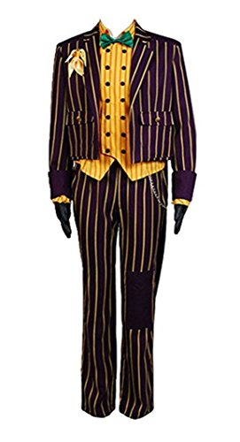 Asylum Joker Costume (Mens Arkham Asylum Joker Coat Suit Cosplay Costume (M,)