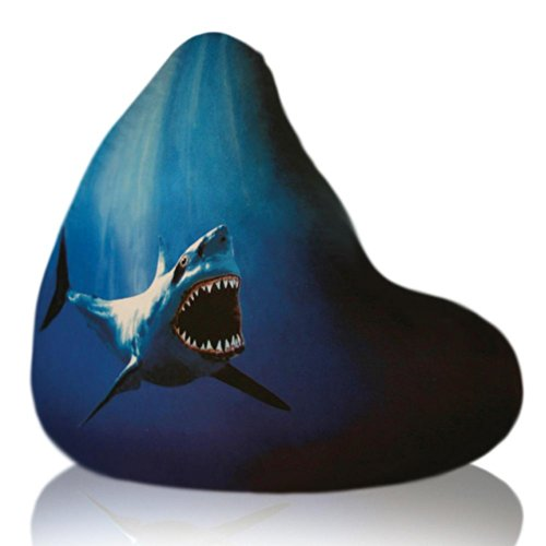 Elite Big Shots Large Twill Shark Teardrop Bean Bag Chair
