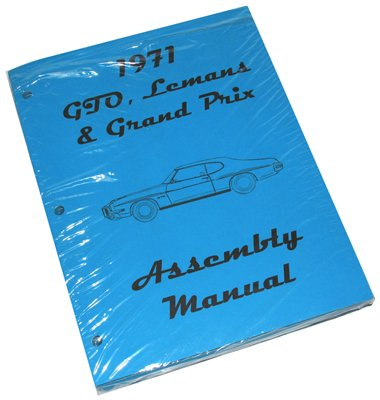 Inline Tube (I-1-2) Factory Assembly Manual for 1971 Pontiac GTO, LeMans and Grand Prix