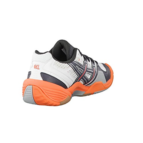 handball GEL femme de Orange Asics Gris DOMAIN Chaussures Blanc pour dIx7wqwO4