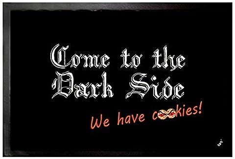 Fun Door Mat Floor Mat - Come To The Dark Side We Have Cookies (24 x 16 inches) (Humor Doormat)