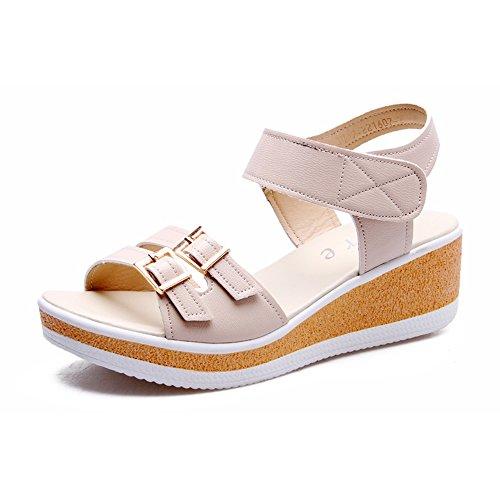 Beige Wedge scarpe HeelBuckle Estate Sandali Sera da femminili Piattaforma di Casual Primavera donne Sandali donna pioggia HAIZHEN Vestito le amp; Party Per fqA1Cww