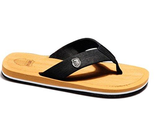 Minetom Hombres Moda Verano Zapatillas Playa Chanclas Dedos Del Pie Del Clip Sandalias Los Colores Del Caramelo Amarillo