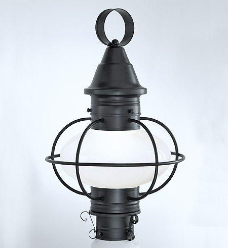 NORWELL 1611-GM-CL Vidalia Onion Post Lamp, Medium, Gun Metal Finish