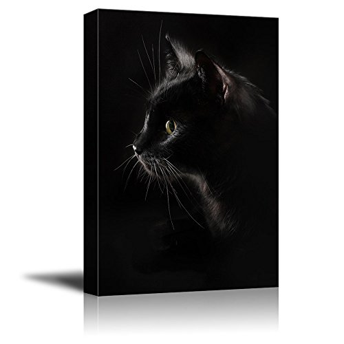 wall26 Canvas Wall Art - Black Cat with