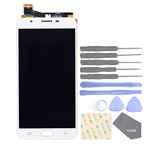 VEKIR Touch Display Digitizer Screen Replacement for Samsung Galaxy J7 Prime(2016) G610 G610F G610M G610Y(White)