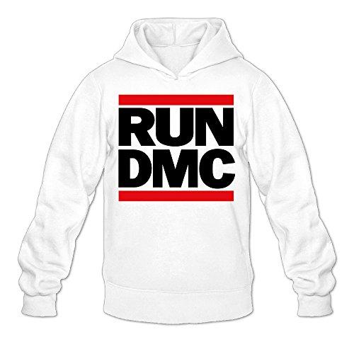 Men's Run DMC Musical Group Logo Hooded Pullover Printing Sweatshirts ()