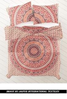 Jaipur International Textile Exclusive Duvet Cover/Bedding Set/Quilt/Blanket Cover/Printed/Reversible/Double(85 x 90) 3 Piece(1 Duvet Cover + 2 Pillow shams)-Ultra Soft Hypoallergenic Microfiber