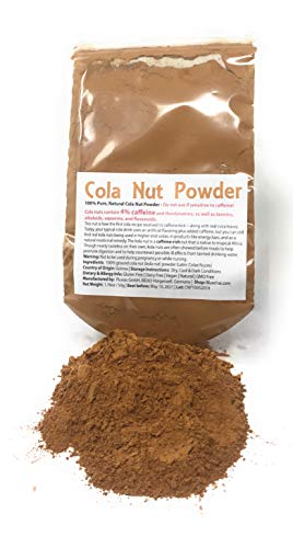 - 100% Pure, Natural Kola Nut Powder - Organic Kola Nut Powder | Super high caffeine amount of 4% - This nut (Colae Nuces) is how the first kola recipe received its caffeine kick