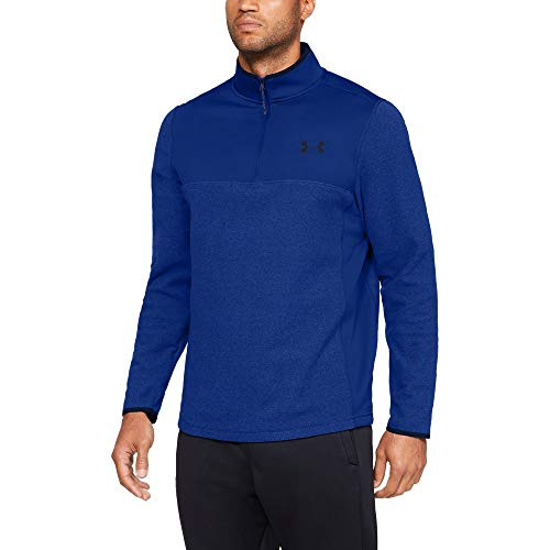 Under Armour Men's Coldgear Infrared Fleece ¼ Zip Sweat Shirt, Royal (400)/Academy, X-Large