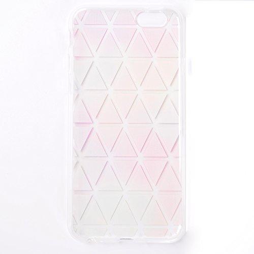 iPhone 6 / 6S Plus Hülle , Leiai Diamant TPU Transparent Weich Tasche Schutzhülle Silikon Handyhülle Stoßdämpfende Clear Schale Fall Case Shell für Apple iPhone 6 / 6S Plus