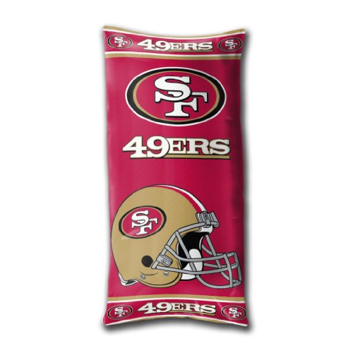 y Officially Licensed NFL San Francisco 49ers Folding Body Pillow ()