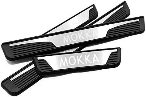 Emblem Trading Edelstahl Plastik Einstiegsleisten Leisten Mokka X