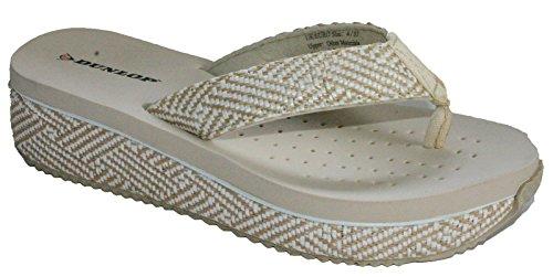 Dunlop - Zapatillas de baloncesto para mujer Beige Low