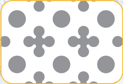 OKSLO Cake-decorating stencil grill: circle and clover design