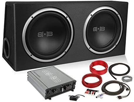 Belva 1200 watt Complete Subwoofer Package Includes Two (2) 12-inch Subwoofers in Ported Box