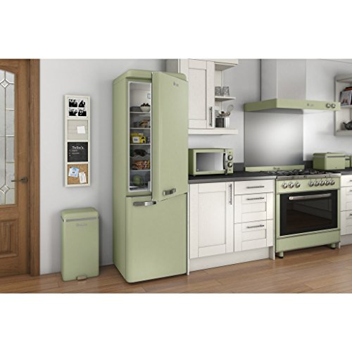 SWAN Retro Manual Microwave, 25 Litre, 900 W, Green