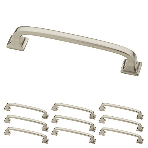Franklin Brass P29613K-SN-B Satin Nickel 4-Inch Lombard Kitchen or Furniture Cabinet Hardware Drawer Handle Pull, 10 pack (Drawer Nickel Satin Hardware)