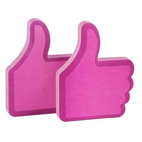 "Eagle ""Thumb Up"" Shape Sticky Notes, 100 Sheets (Red)"