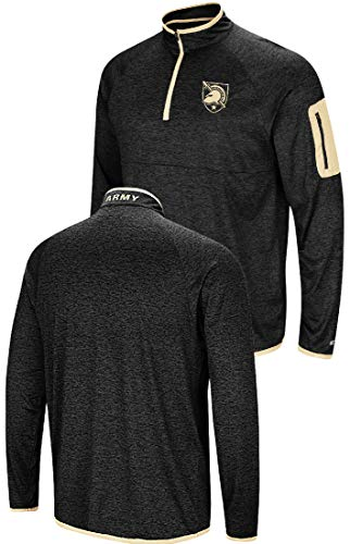 Colosseum NCAA Men's Amnesia Quarter Zip Pullover Windshirt (X-Large, Army Black Knights) ()