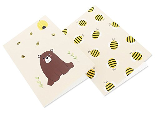48 Pack All Occasion Assorted Blank Note Cards Greeting Cards Bulk Box Set -  6 Honey Bear Designs - Blank on the Inside Notecards with Envelopes Included - 4 x 6 Inches by Best Paper Greetings (Image #8)
