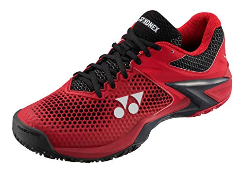 Yonex Power Cushion Eclipsion 2 Mens Tennis Shoe, Red/Black (Size 8)