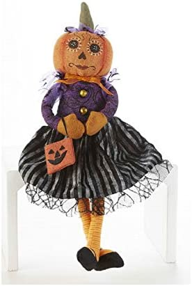 Delton Products 20 inches Sitting Dainty Pumpkin Lady Plush Puppet Decoration