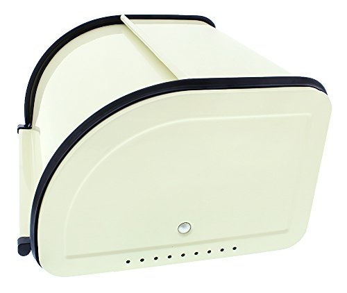 Juvale Bread Box For Kitchen Counter - Stainless Steel Bread Bin Storage Container with Roll Top Lid for Loaves, Pastries, and More - Retro/Vintage Inspired Design, Cream, 10 x 8.5 x 5.5 Inches by Juvale (Image #7)