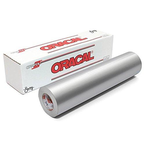 Oracal 751 Premium Cast Vinyl 12 Inches by 6 Feet - Metallic Silver Grey (Cast Silver)