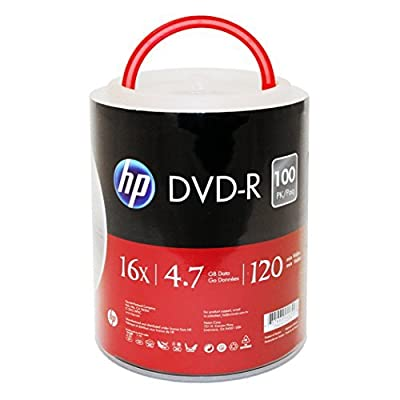 HP DVD-R 16X 4.7GB 100PK Spindle with Handle by hp